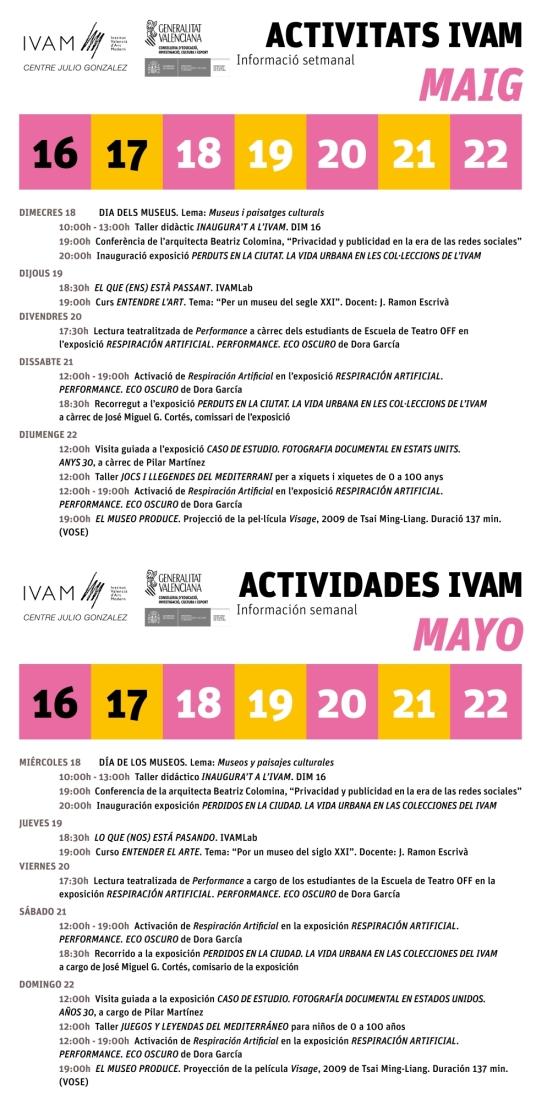 IVAM 16 al 22 mayo