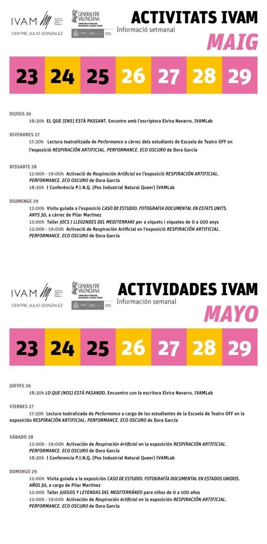 IVAM 23 a 29 mayo