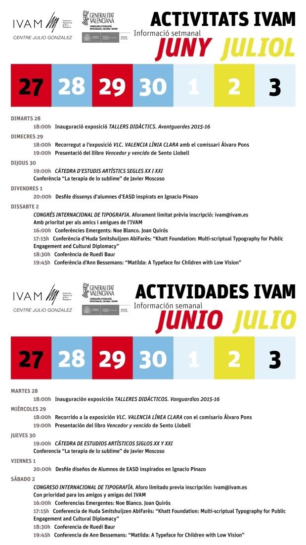 IVAM 27 junio a 3 julio 2016