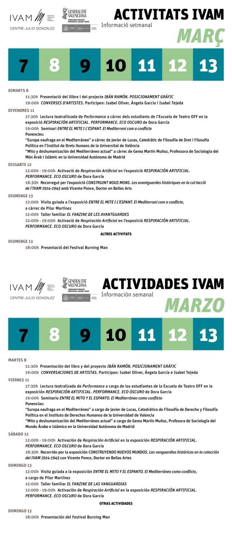 IVAM 7 al 13 marzo 2016