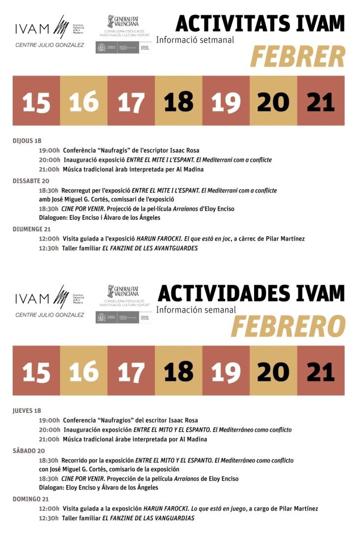 IVAM semana del 15 al 21 febrero