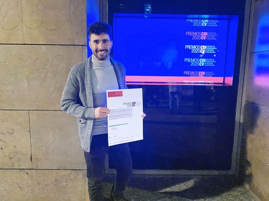 Cesar Soro Falcó, ganador de los Premios CDICV 2020 por su proyecto Arbedre
